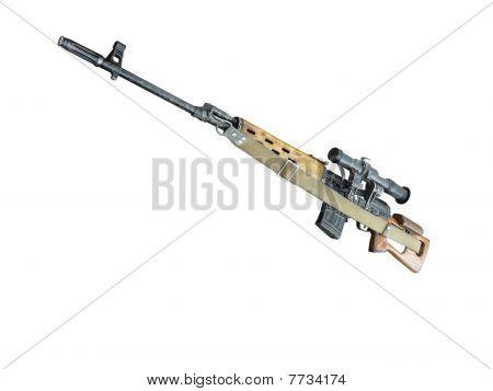 Sniper Rifle Mmg Svd By Dragunov With Optics