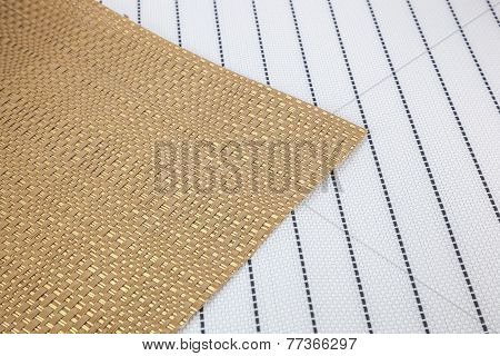 Basketry Of Leaves Texture Brown