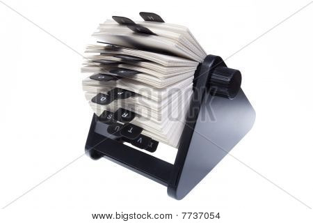 Rolodex On White Background