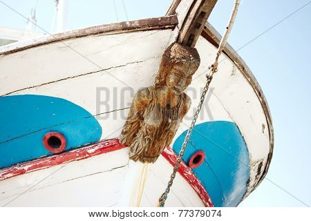 Old Figurehead on Sailing Ships.