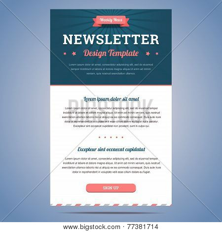 Newsletter design template