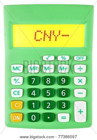 Calculator With Cny On Display