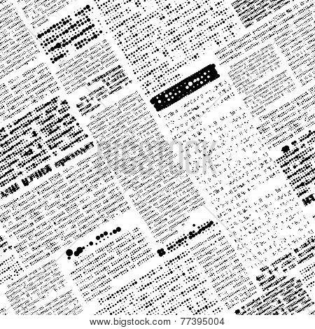 Imitation of newspaper