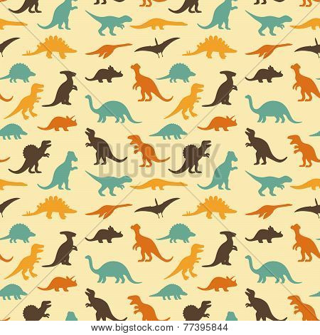 retro dinosaur pattern