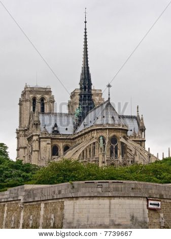 Notre Dame Viewed from Seine River