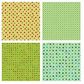 Seamless tiling dot textures  - great for scrapbooking or card making. poster