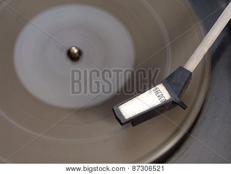 Old record-player, vector