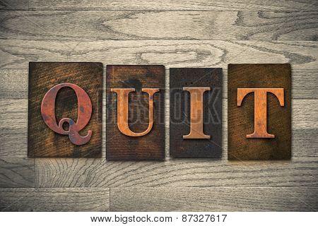 Quit Wooden Letterpress Theme