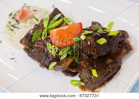 Hawaiian Crockpot Beef Ribs