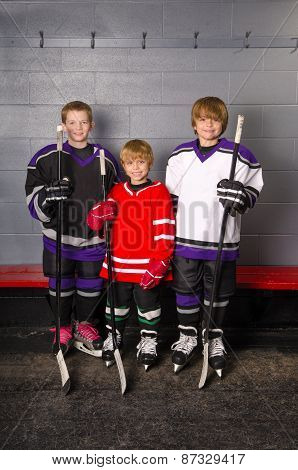 Junior Hockey Players In Dressing Room