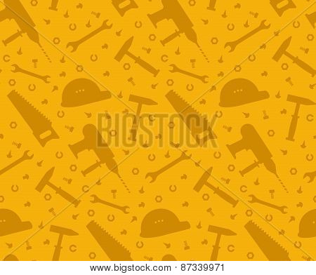 Construction tools seamless background