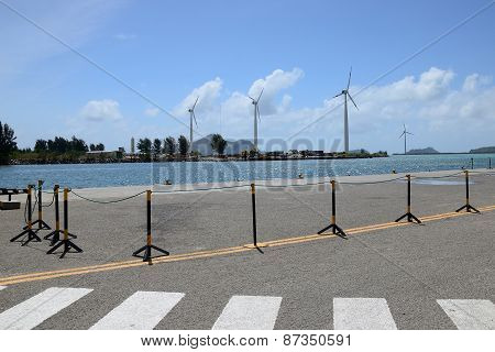 Group Of Windmills For Electric Energy Production.
