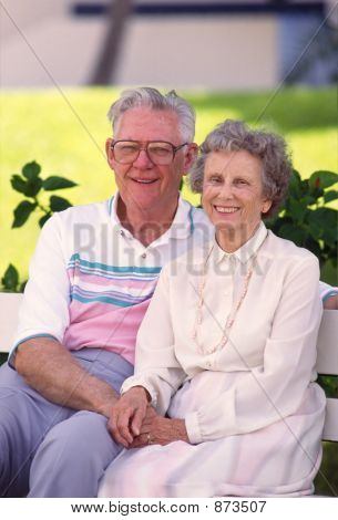 Retired Couple On Bench 2