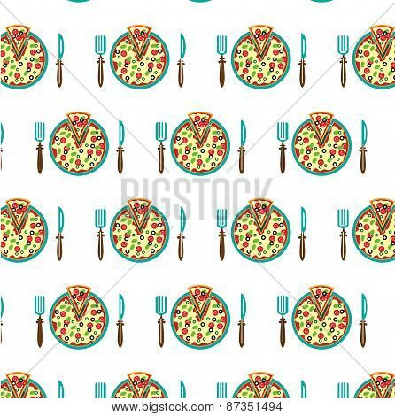 Picture of plate with pizza