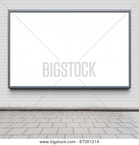 Blank advertising billboard on a street wall. poster