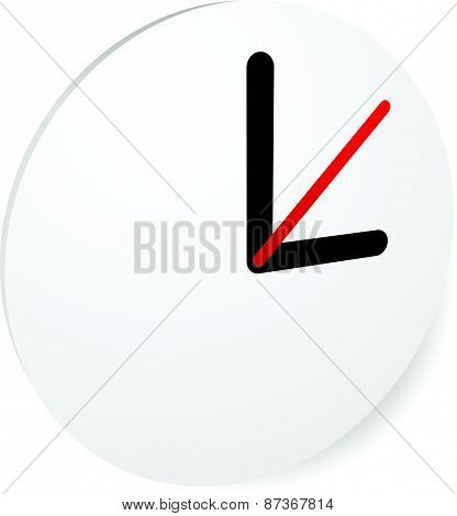 Clock Graphics Clock Icon. Editable clock with hour minute and second pointers. Time schedule fastness concepts poster