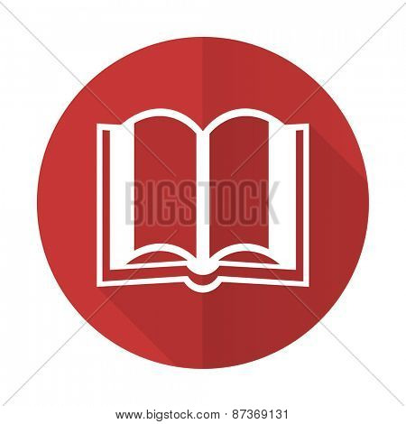 book red flat icon