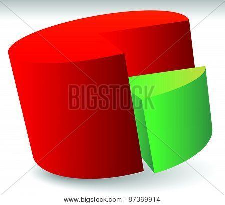Pie Chart Vector. Pie Chart, Pie Graph Element