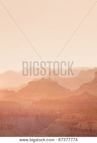 Sunset view of the Grand Canyon from the Lipan point along the South Rim Arizona landmark poster