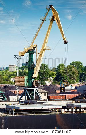 Crane In A Sea Port