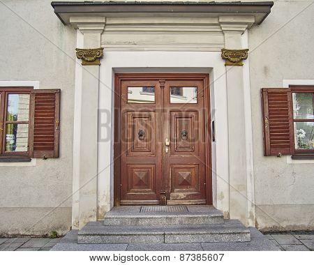 elegant house door Munchen Germany