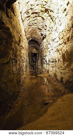 Old historical underground stream sewer