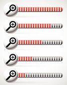 Magnifiers with level indicators units increments. Version with bars. poster