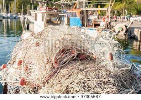 Fishing Net To Dry
