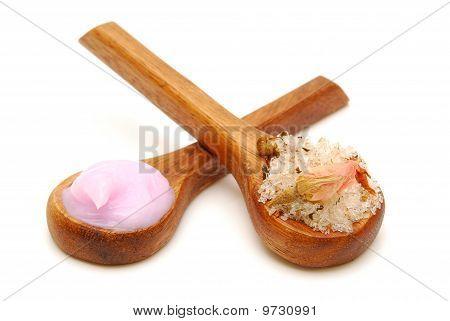 Bath Salts And Body Cream