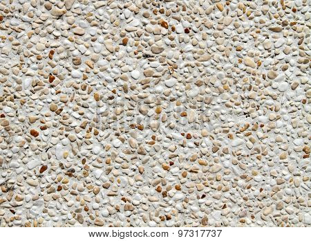 Gravel stone wall background