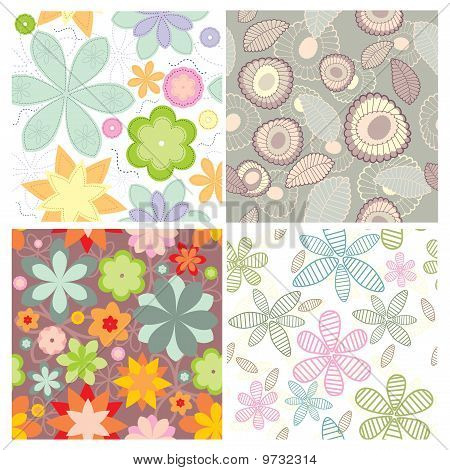 vector small collection of cute seamless wallpaper poster