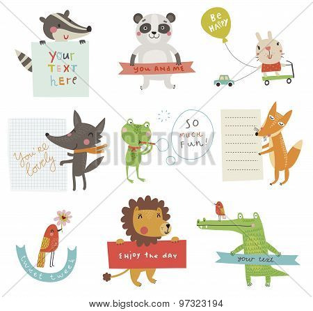 Funny animals set