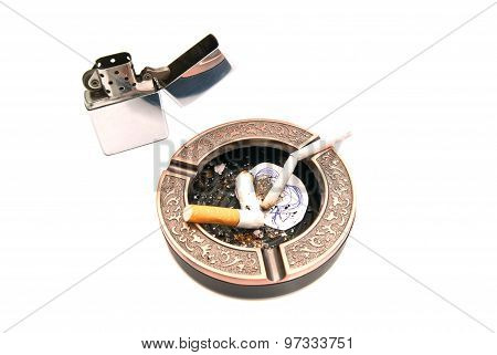 Hazards Of Smoking Concept