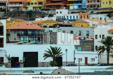 Typical Colored Colonial Spanish Building