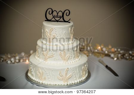 Wedding Cake On The Table