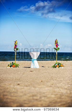 Beach Wedding Ceremony Set Up