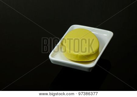 Yellow soap bar