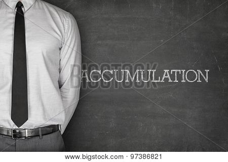 Accumulation text on blackboard