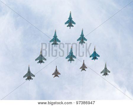 Mig-29 And Sukhoi Flying Rhombus