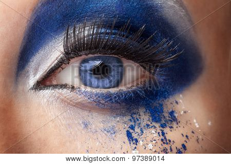 Blue Eye With Fantasy Fashion Make Up