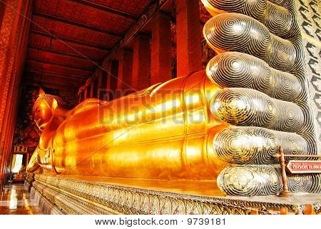 Reclining Buddha Statue In Thailand Buddha Temple Wat Pho