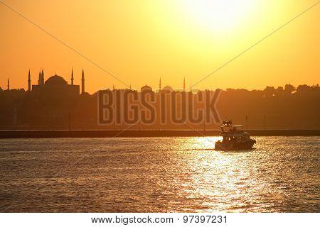 Bosporus At Sunset
