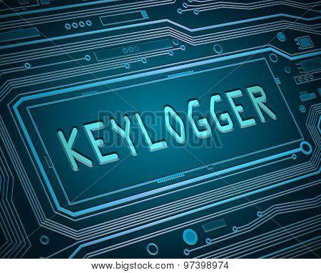 Keylogger Concept.