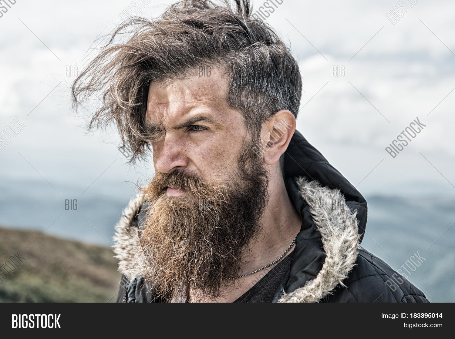 hipster bearded man image photo free trial bigstock