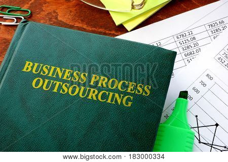 Book with title Business Process Outsourcing, BPO.