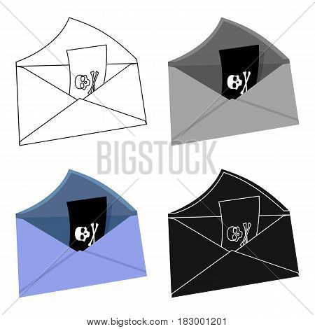 E-mail with key password icon in cartoon design isolated on white background. Hackers and hacking symbol stock vector illustration.