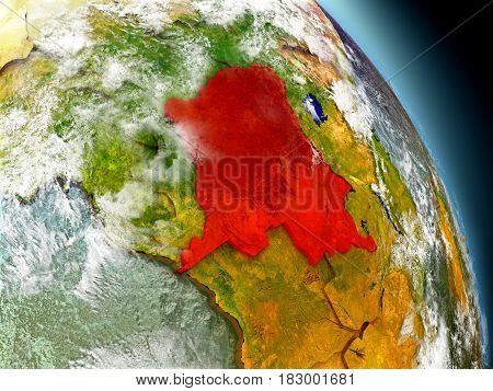Democratic Republic Of Congo From Space