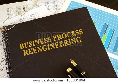 Book with title Business process reengineering (BPR).