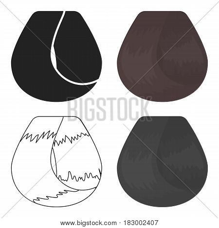 Hair lock icon in cartoon style isolated on white background. Hairdressery symbol vector illustration.