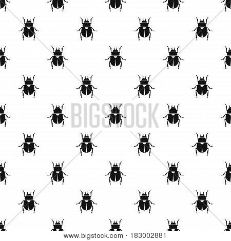 Scarab pattern seamless in simple style vector illustration